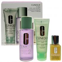 Clinique 3step Skin Care System4 50ml Liquid Facial Soap + 100ml Clarifying Lotion 4 + 30ml DDMgel