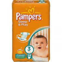 Pampers Sleep & play 3 midi 58 ks