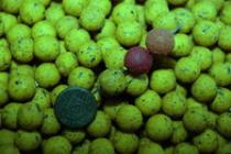LK Baits Mini boilie Green Banana 12mm 500g