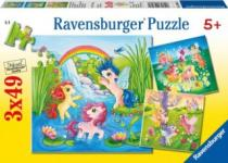 RAVENSBURGER 3x49 dílků - My Little Pony 3v1