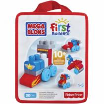 Mega Bloks First Builders autíčka 20ks