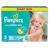 Pampers Active Baby-dry Junior 78ks