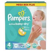 Pampers Active Baby-dry Maxi 147ks