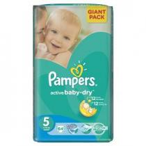 Pampers Active Baby-dry Junior 64ks