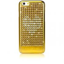 Bling My Thing Extravaganza Gold Heart pro Apple iPhone 6/6S