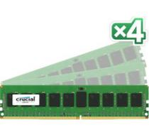 CRUCIAL Server Memory 32GB (4x8GB) DDR4 2133 ECC Single Ranked CL 15 - CT4K8G4RFS4213