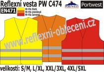 PW CLOTHING LTD Reflexní vesta PW C474