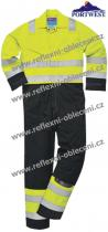 PW CLOTHING LTD HI-VIS MODAFLAME KOMBINÉZA PW-MV28
