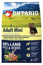 Ontario Adult Mini Lamb Rice 2,25kg