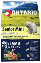 Ontario Senior Mini Lamb Rice 2,25kg
