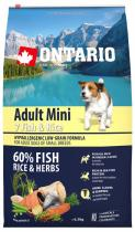 Ontario Adult Mini Fish Rice 6,5kg