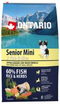 Ontario Senior Mini Fish Rice 6,5kg