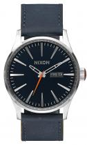 Nixon Sentry Leather Blue/Orange
