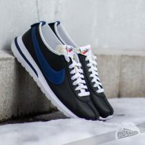 Nike Roshe Cortez NM Leather Black/Deep Royal Blue-Safety Orange-White