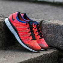 Nike Free Flyknit NSW Bright Crimson/ Black-Green