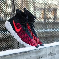 Nike Air Footscape Magista Flyknit Black/ Bright Crimson-Gym Red-Clear Grey