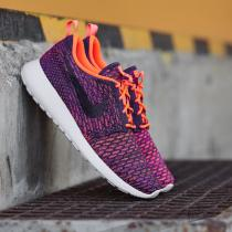 Nike Wmns Roshe One Flyknit Total Crimson/ Grnd Purple- Vvd Purple