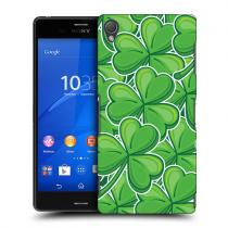 Pouzdro HeadCase Stickers Shamrock Patterns pro Sony Xperia Z3