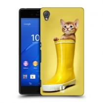Pouzdro HeadCase Abyssinian Kitty In A Boot Funny Animals pro Sony Xperia Z4