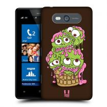 Pouzdro HeadCase Green Blob Icecream Monsters pro Nokia Lumia 820