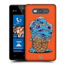 Pouzdro HeadCase Slab Icecream Monsters pro Nokia Lumia 820