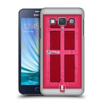 Pouzdro HeadCase Magenta Coloured Door pro Samsung Galaxy A3, A300