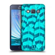 Pouzdro HeadCase Cyan Tickler Feathers pro Samsung Galaxy A3, A300