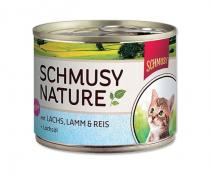 Schmusy Cat Nature Menu Junior losos jehněčí 190g