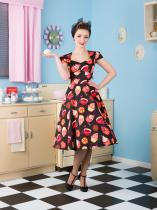 LADY VINTAGE RETRO Swing Black Cupcake