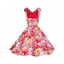 LINDY BOP RETRO OPHELIA Red White Floral Spring