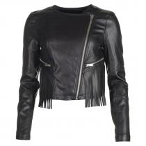 Noisy May Lip PU Jacket Black