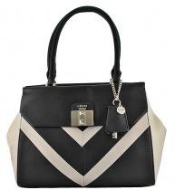 Guess Rebel Roma Chevron Satchel