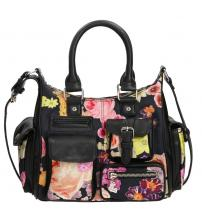 Desigual Flowers Mini London Negro