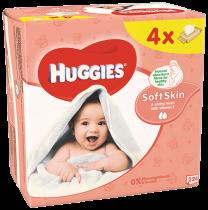 HUGGIES® Quatro Pack Soft Skin 56 ks