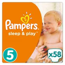 PAMPERS Sleep&Play 5 JUNIOR 58ks