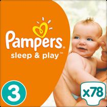 PAMPERS Sleep&Play 3 MIDI 78ks
