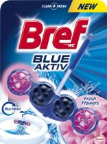 BREF Blue Aktiv Fresh Flower WC blok 50 g