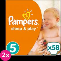 PAMPERS Sleep&Play 5 JUNIOR 58ks (11-18 kg) JUMBO PACK