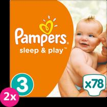 PAMPERS Sleep&Play 3 MIDI 78ks (4-9kg) JUMBO PACK