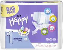 BELLA HAPPY Newborn 1 (2-5 kg) Big Pack 78ks