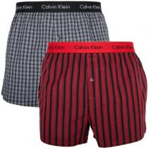 Calvin Klein 2PACK Boxers Slim Fit Red Grey
