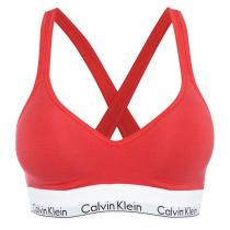 Calvin Klein Podprsenka Modern Cotton Bralette Lift Red