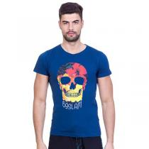 69SLAM  Short Hibiscus Skull Blue