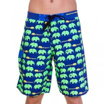 69SLAM Dlouhé Boardshort Elephant Green