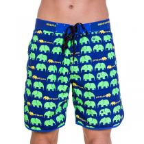 69SLAM Krátké Boardshort Medium Elephant Green