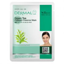 DERMAL Korea Green Tea Collagen Essence Mask