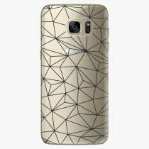 Samsung - Abstract Triangles 03 - black - Galaxy S7 Edge