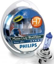 Philips 24V H7 70W MasterDuty BlueVision 2ks