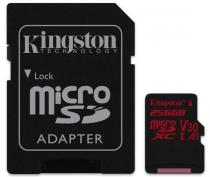 Kingston 256GB Canvas React microSDXC UHS-I V30 + ad (SDCR/256GB)