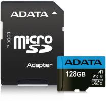 Adata MicroSDHC 128GB UHS-I 85/20MB/s + ad (AUSDX128GUICL10A1-RA1)